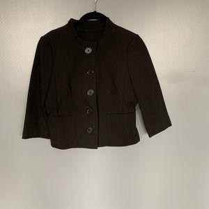 Banana Republic Cropped Blazer Black Size 6